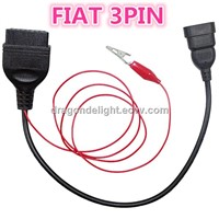 Fiat 3PIN ALFA Lancia OBD OBD2 FIAT 3PIN to 16PIN Diagnostic Tool Cable