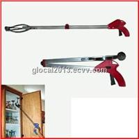 Foldable pick up grabber tool