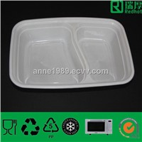 Food Storage Plastic Food Container with Two Compartments (RHC1000)