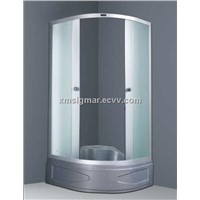 Glass shower doors shower room with ABS board