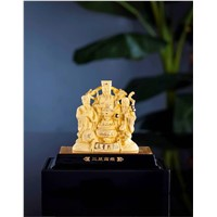 Gold plated Decoration with good luck and success in life