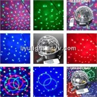 High quality led crystal magic ball disco or party magic ball light dmx 512 with MP3 player light