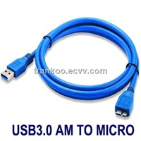 High speed usb 3.0 cable for external HDD Type A Male to Micro B Male 5 Gbps usb 3.0 cable