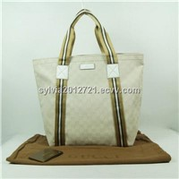 Hot womens replica gucci fabric and real leather bag leather handbag for sale