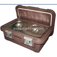 Insulated food carriers with GN pans, GN food pan carrier, Top loading food carriers