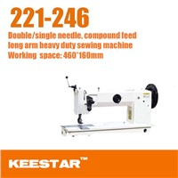 Keestar 221-246  heavy duty double needle leather sewing machine