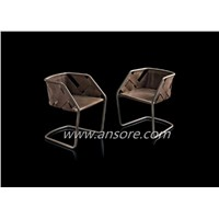Leather Strip Chair