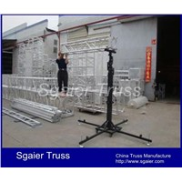 Lift tower for stage lighting crank stand for truss and stage light