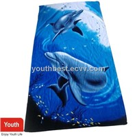 Live Dolphin Beach Towel Blanket for Holiday