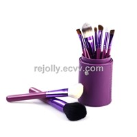 Makeup Travel Brush Kit - 9pcs with cylinder LJLBP-033