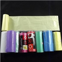 Many Color HDPE Plastic Garbage Bag on roll