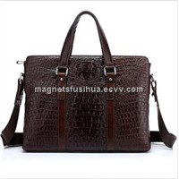 Men Fashion Genuine Leather Bag, Crocodile Tote Leather Bag Designer (M3029)