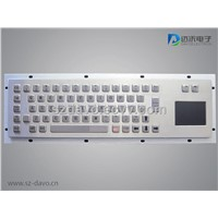 Metal Kiosk Keyboard with Touchpad