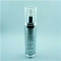 Plastic acrylic bottle flask container 30ml 60ml for cosmetic