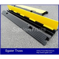 Rubber road ramps cable ramp cable protector yellow jacket cable protector