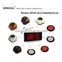 SINCGALL wireless calling system with fixed receiver APE9300