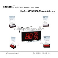 SINGCALL wireless calling sysyem with fixed receiver and multi-keys call button