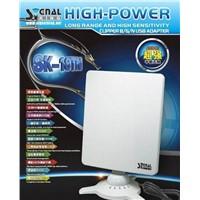 Signal King 18TN wireless booster Adaptador wifi usb adapter 48dbi flat panel antenna