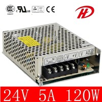 Single Output 120W 24V Industrial Power Supply (HS-120W)