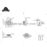 Small Plastic Rotary Damper