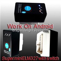 Super Mini ELM327 Bluetooth OBD-II OBD can with Power Switch can Prolong Life