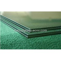 Tinted laminated safety glass in building windows and doors , curtain walls