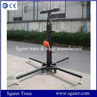 Tower lift crank stand hand winch light stand
