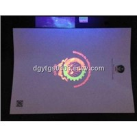 UV invisible printing certificate