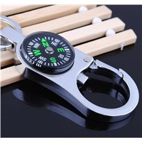 Unique design metal compass keychain bottle opener keychains promotional key rings
