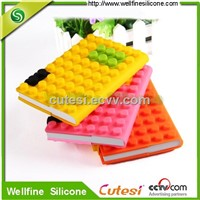 Wholesale round dot silicone note book cover to protect your books
