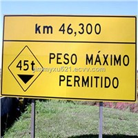 cost effective Brazil aluminium traffic road safety warning signs board symbols sinals signages
