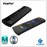 iPazzPort mini wireless keyboard for lg smart tv With IR Remote universal remote control keyboard