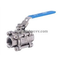 three piece ball valve with lock
