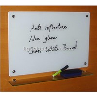 Tempered glass white board