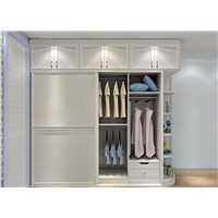 white color wardrobe,built-in wardrobe, sliding door