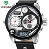 2014 WEIDE Oversized men 30 ATM analog sports watch genuine leather Japan Miyota 2035 quartz watch