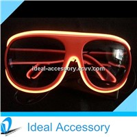 2014 Eyewear Carrera Style LED Shining Sunglasses For Night parties With Multi Color El wire Growing