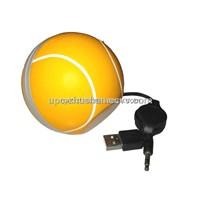 Fashion Gift Tennis Ball Mini USB 2.0 Speaker