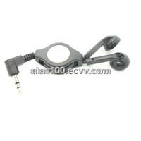 Retractable earbud / Low price plastic earphone