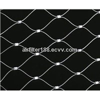 Stainless Steel Rope Woven Mesh For Stair Security 1.2mm-3.2mm