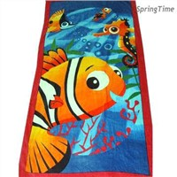 100% Cotton Reactive Printed Beach Towel, Various Sizes are available