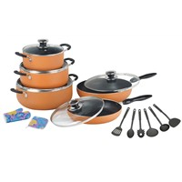 15PCS Non-stick cookware set in 2.5mm thickness