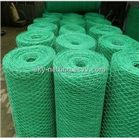 "1"" hole PVC coated hexagonal wire mesh"