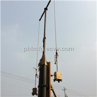 25m Pneumatic Telescopic Mast for Telecommunication Towers/100kg head loads