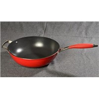 28CM Enameled Cast Iron Wok