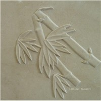 3d crema marfil stone wallart panels