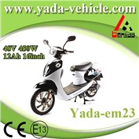 48v 450w 12ah 16inch drum brake sport style electric scooter motorcycle (yada em23)