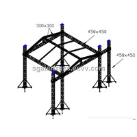 6 Pillars Lighting Truss System for Outdoor Large Concert/Performance with Stage