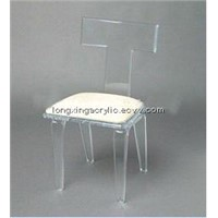 Acrylic hotel room chair