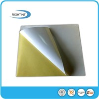 Adhesive thermal paper roll or sheet